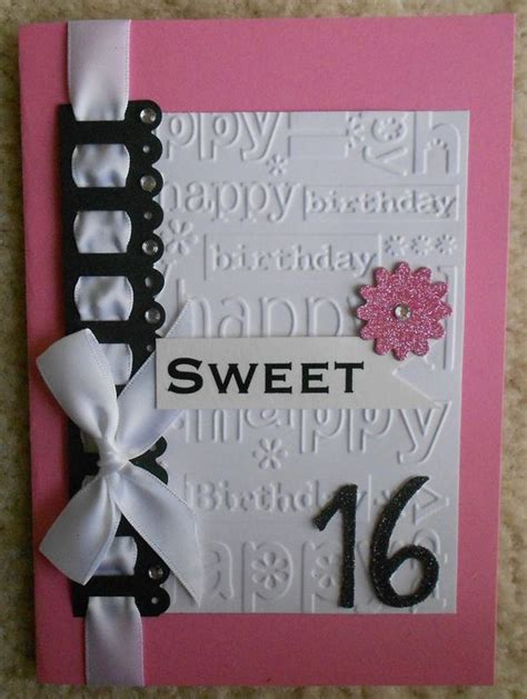 printable birthday cards sweet 16 handmade sweet 16 birthday card card ideas pinterest