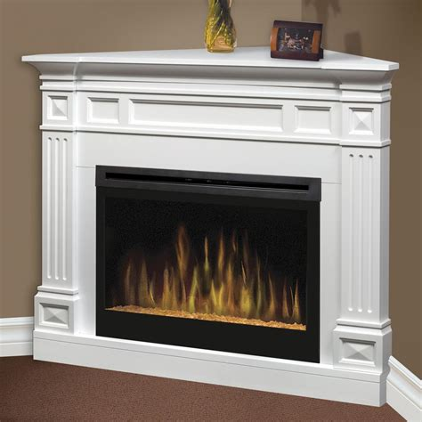 White Electric Corner Fireplace by Dimplex Traditional 52 Inch Corner Electric Fireplace With
