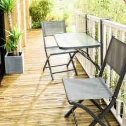 ensemble balcon pliant 2 places en acier gris anthracite