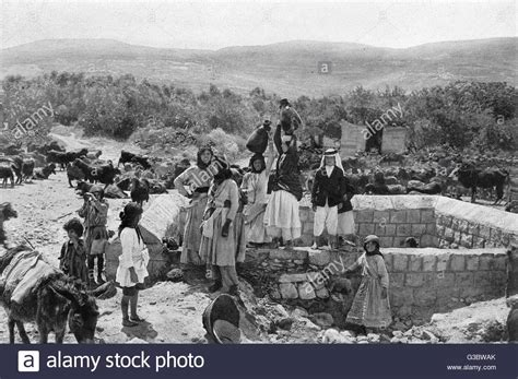 stock photos stock images alamy collecting water at the well in cana galilee