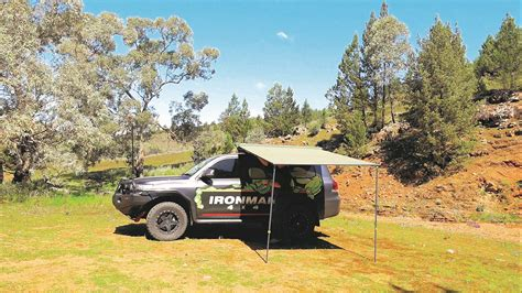 ironman instant awning instant awning with brackets 1 4m l x 2m out with led