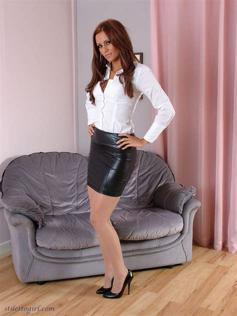leather skirt images
