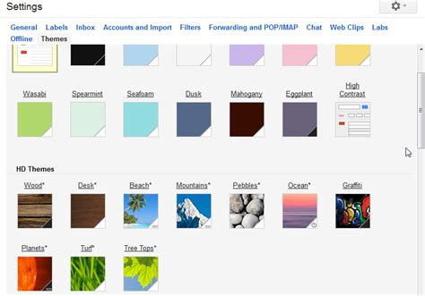 gmail colour themes a gmail miscellany gmail 101