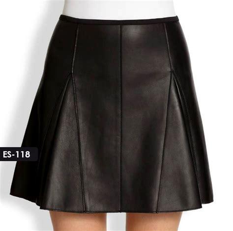 sydney leather jacket kick pleat leather skirt by sydney