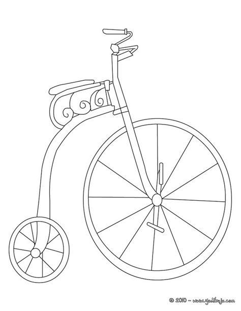 imagenes de bicicletas faciles para dibujar dibujos para colorear bicicleta antigua es hellokids com