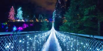 lights bc lights at capilano suspension bridge are back