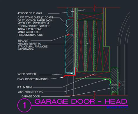 Garage Door Details Residential Garage Door Cad Details Pilotproject Org