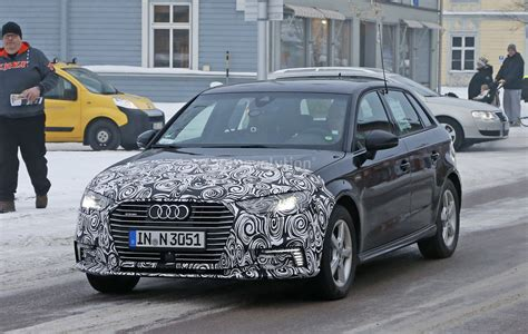 Audi A4 E Tron by 2017 Audi A3 E Tron Facelift Shows A4 Headlights And New