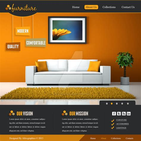 modern home design websites furniture website design by afro graphics on deviantart