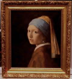vermeer the with the pearl earring painting genuine reproduction reproductions replicas home