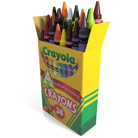 Crayon Eselon 12 Warna 3 Box Box Crayons 3d Model