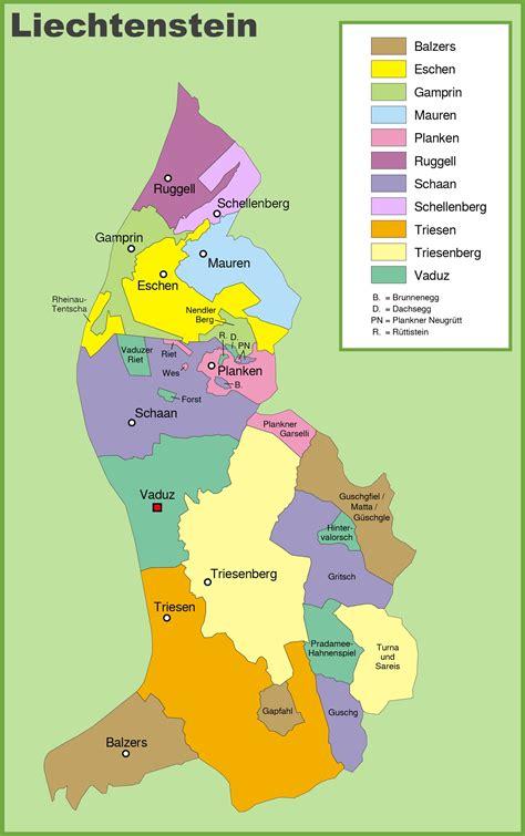 where is liechtenstein on a map liechtenstein country map
