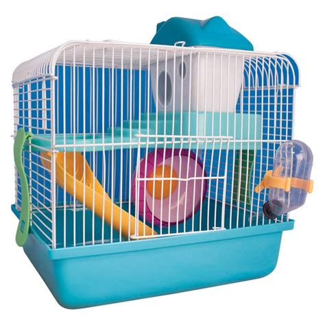 dwarf hamster cage house small animal mouse spinning wheel slides water bottle ebay