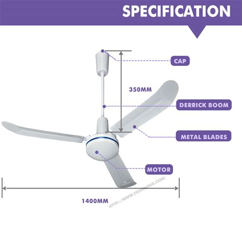 non electric ceiling fans 56 inch non electric plastic rotary air cool industrial