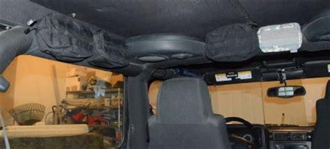 tactical jeep 2 door jeep wrangler molle bar sleeve storage system retrofit