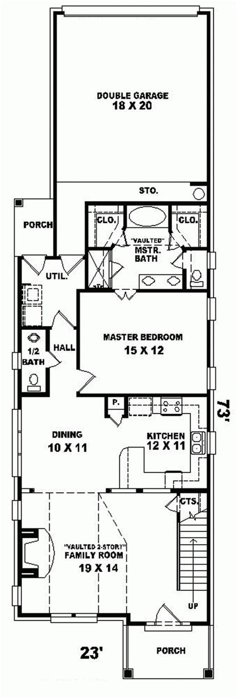 House Plans On Narrow Lots by 17 Best Ideas About Narrow Lot House Plans On