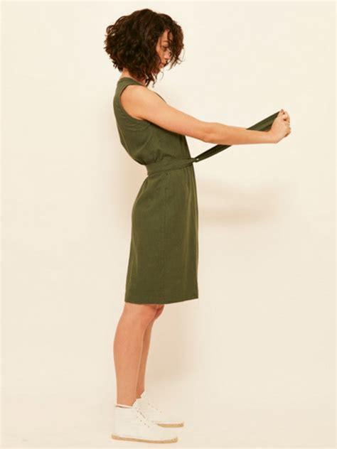 CTE STYLE TRIBE: MARGOT MOLYNEUX LINEN WRAP DRESS