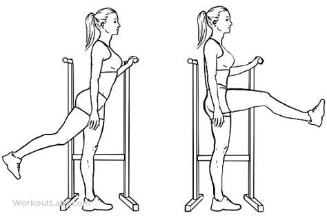 leg swings exercise forward leg hip swings workoutlabs