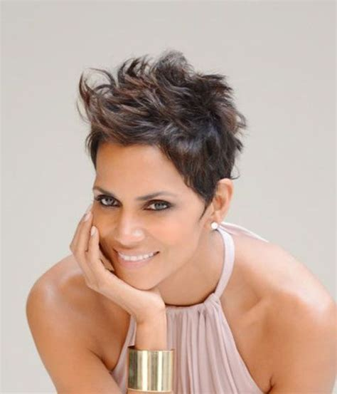 pixie cut for middle aged curly hair bing 25 best ideas about halle berry haircut on pinterest