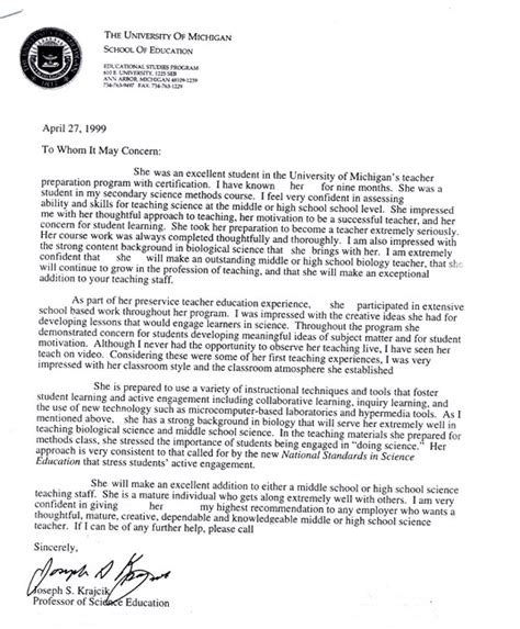 Letter Of Recommendation Uw letters of reference