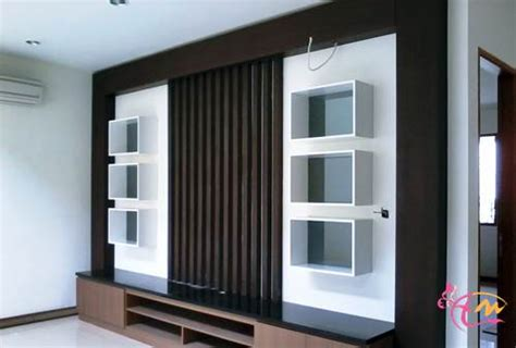 Lemari Kayu Ruang Tamu aneka lemari penyekat ruang tamu minimalis