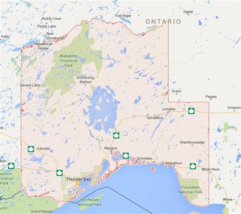 map of and surrounding areas thunder bay community foundation