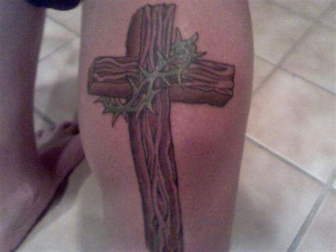 wooden leg tattoo 25 amazing cross calf tattoos