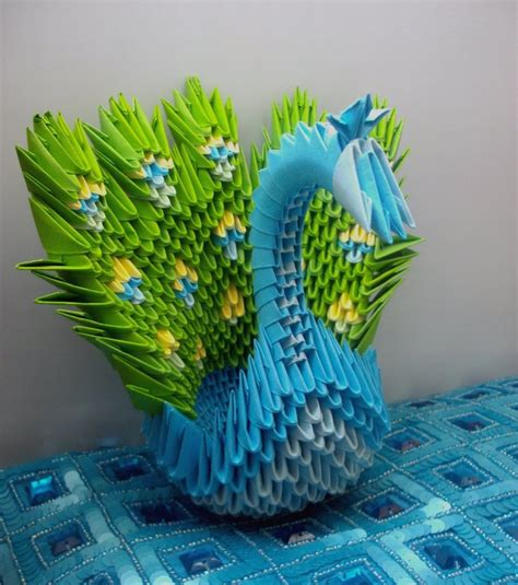 Paper Peacock Origami - peacock 3d origami by sophieekard on deviantart