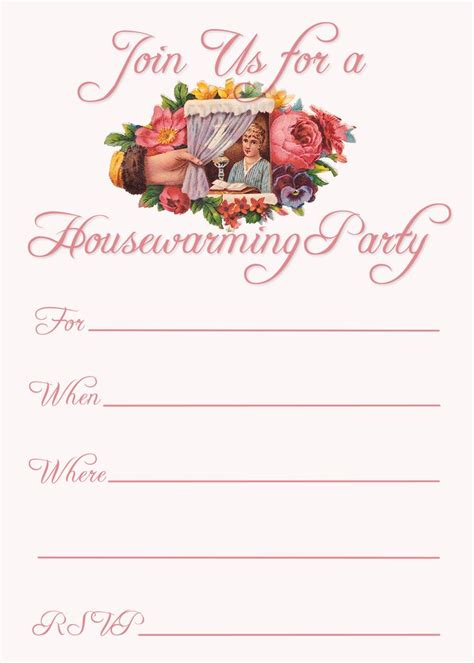 Free Printable Invitation Cards For Housewarming | free printable housewarming party invitations