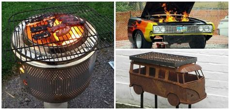 diy pit with grill 10 creative recycling diy grill bbq and pit projects 1001 gardens