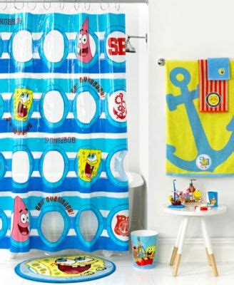 spongebob bathroom accessories nickelodeon bath accessories spongebob set sail