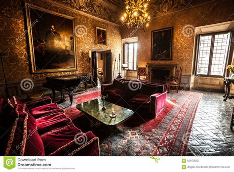 Interior Furniture Salon Of A Seventeenth century Castle