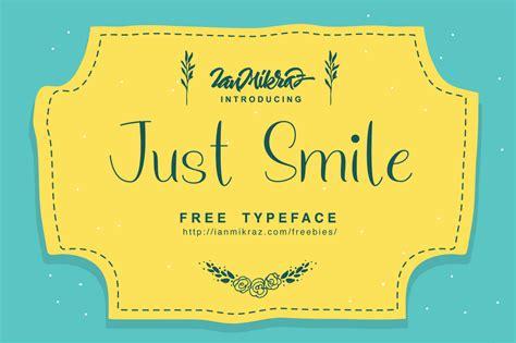 smile typeface befontscom