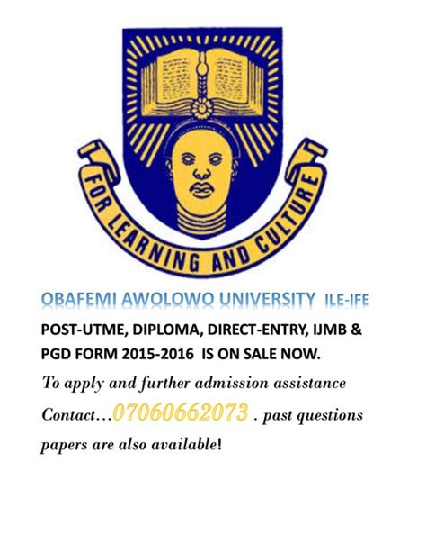oau post utme tutorial obafemi awolowo university post utme 2015 2016 is out