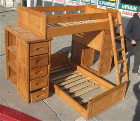 Wood Bunk Beds With Desk And Dresser by Uhuru Furniture Collectibles Sold Pine Desk Shelves