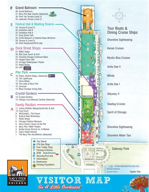 visitor pattern map navy pier visitor map find chicago maps pinterest