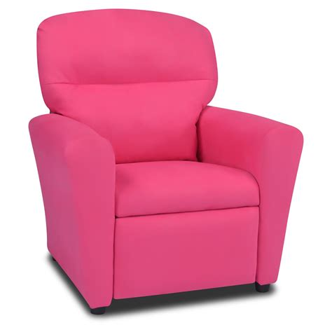 totally tween recliner pink suede