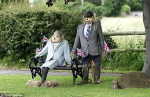 Olympic Bench Diamond Jubilee And Olympics Themed Scarecrows Which Are