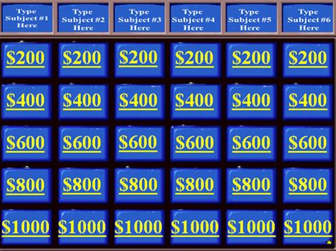 Jeopardy Template 13 Free Word Excel Ppt Pdf Format Download Free Premium Templates Jeopardy Blank Template 2