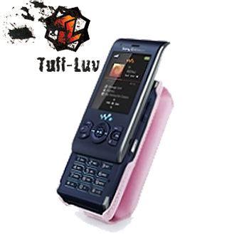 Cassing Sony Ericsson W595 Oc tuff tuff grip classic leather for sony ericsson w595 pink