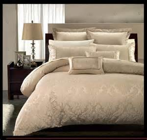 9pc beige contemporary jacquard design comforter set full