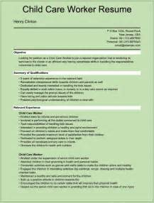 Child Care Worker Resume Template sle child care worker resumes for microsoft word doc