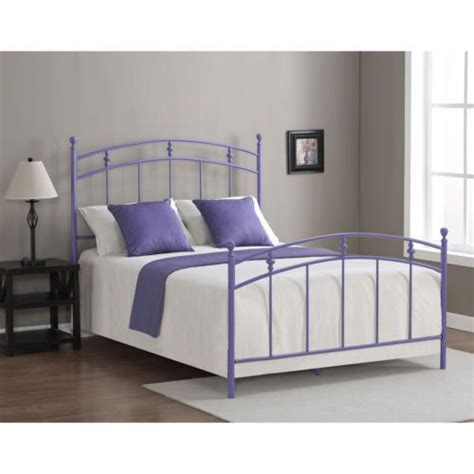 Full Size Lavender Bed Frame Purple Girls Women Teens Purple Bed Frame