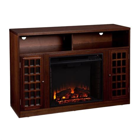 southern enterprises narita espresso w electric fireplace