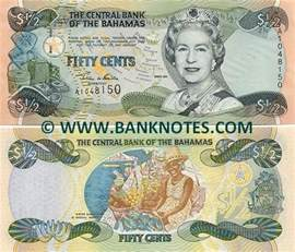 Freeport bahamas 50 cents 2001 bahamian currency bank notes