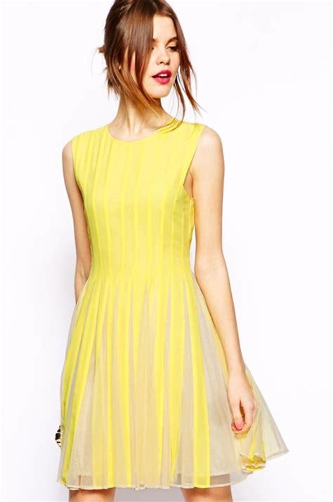 gelbes kleid modische gelbe kleider  fresh ideen