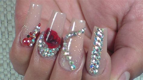 imagenes d uñas naturales decoradas u 241 as acrilicas canela con swarovski youtube