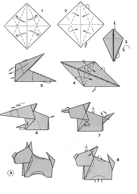 How To Make Origami Dogs - 1000 images about origami animals on