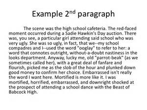 Exle Of Essay Paragraph by Informational Paragraph Exles Images