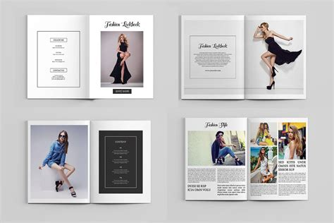 brochure templates for photoshop elements photography magazine template fashion lookbook brochure